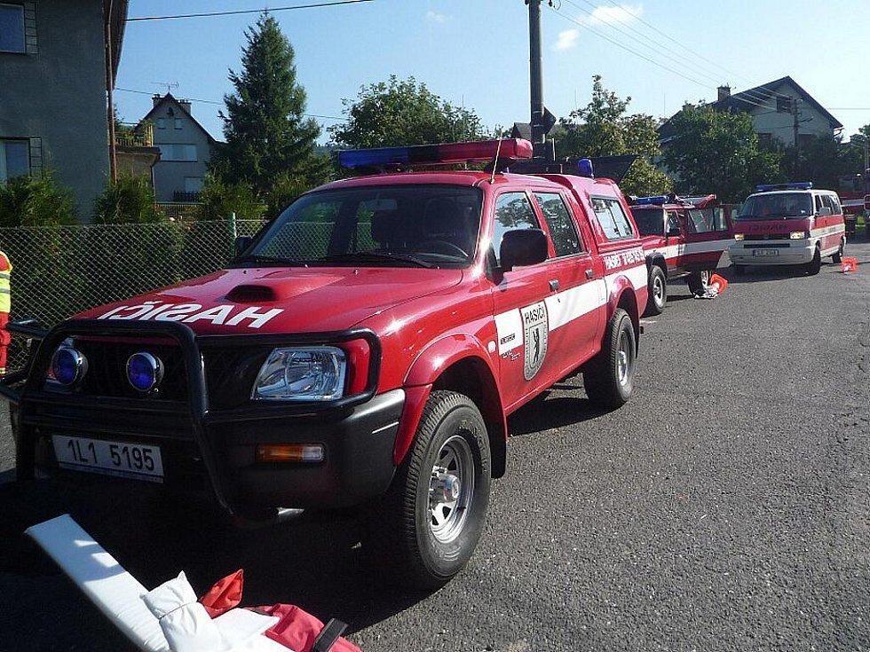 Součinnostní cvičení složek IZS Libereckého kraje naplánovali organizátoři v naprostém utajení na středu 22. září dopoledne do obce Bezděčín u Frýdštejna.