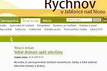 Otevření diskuze na webu rychnovjbc.cz