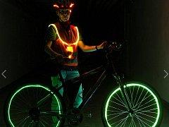 Osvětlený cyklista