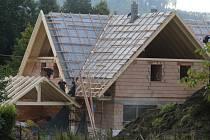 Rozestavěný dům Karla Gotta v Doubici