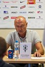 Tisková konference klubu FK Jablonec před startem nové sezony proběhla 25. července v Jablonci nad Nisou. Na snímku výkonný ředitel Petr Flodrman.