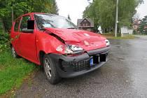 V Lučanech nad Nisou se stala dopravní nehoda.