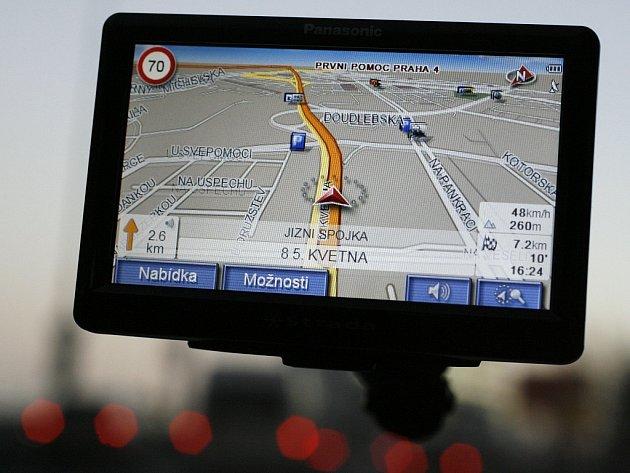 GPS navigace. Ilustrační obrázek.