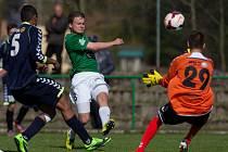 Juniorský tým Baumitu Jablonec prohrál v předehrávce s Jihlavou (v modrém) 3:1.