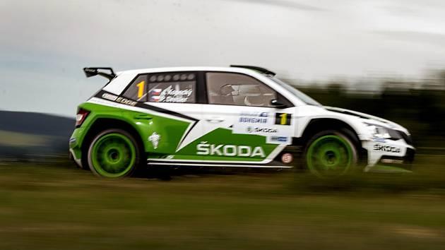 Vítězná posádka Rally Bohemia 2015