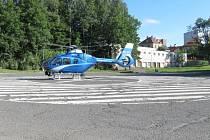 Z paluby vrtulníků policisté v pondělí dohlíželi na bezpečnost a plynulost silničního provozu na Jablonecku.