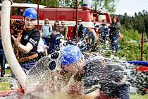 Soutěž v požárním sportu za okrsek Tanvald se konala na Krojčenku v Lučanech nad Nisou.