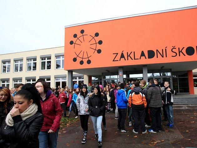Nácvik evakuace v ZŠ Liberecká