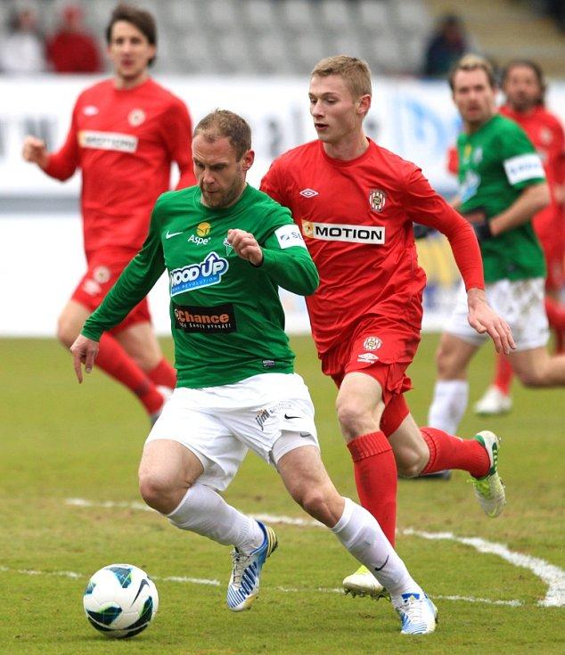 Jablonec porazil doma Brno 2:0. Na snímku Michal Hubník z Jablonce, který zahodil několik gólových příležitostí.