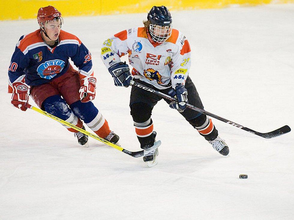 Na domácím ledě se utkali jablonečtí  junioři HC Vlci s Letci z Letňan.