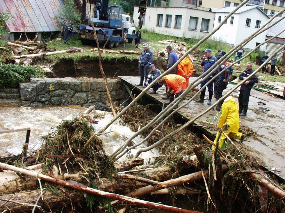 14. srpen 2002. Situace na jablonecku před pěti lety.