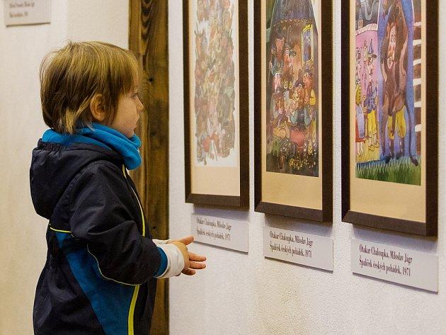 Zahájení interaktivní výstavy Vánoční pohádky s Miloslavem Jágrem v Domě Jany a Josefa V. Scheybalových v Jablonci