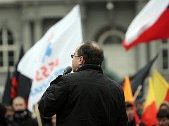 Dělnická strana sociální spravedlnosti a její předseda Tomáš Vandas.