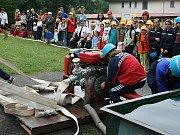 Sbor dobrovolných hasičů Zlatá Olešnice. Šroubování savice.