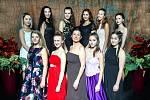 Finálová desítka soutěže Hledáme princeznu z tanečních TOPDANCE 2017 se šéfredaktorkou Lenkou Klimentovou.
