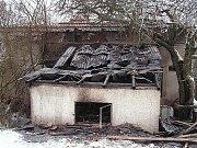 Požár přístavby rodinného domu v části Stanový obce Zlatá Olešnice ve středu 14. ledna 2009 minutu před 23. hodinou. Operační důstojník na místo vyslal profesionální hasiče z Velkých Hamrů a dobrovolné kolegy ze Zlaté Olešnice a Vysokého n. J.