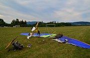 Nehoda motorového rogala na letišti v Hodkovicích nad Mohelkou