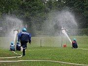 Sbor dobrovolných hasičů Zlatá Olešnice. Rychlý nástřik terčů.