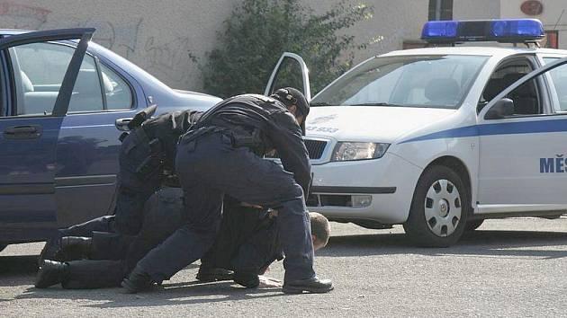 Ilustrační foto. Brodští strážníci při Dnu integrovaného záchranného systému.