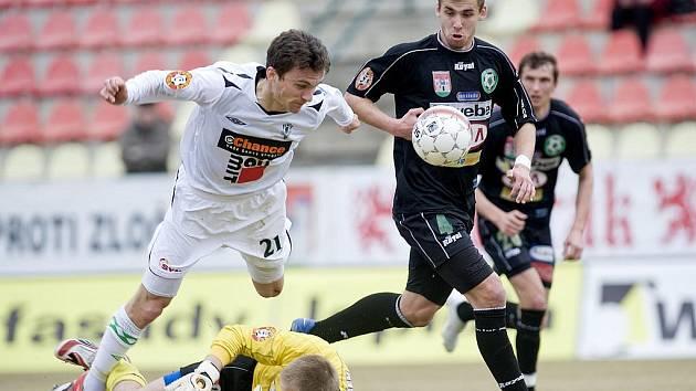 Ve 20. kole hostil 1 FK Příbram za pěkného jarního počasí FK Baumit Jablonec.