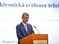 Ministr Andrej Babiš .- duchovní otec elektronické evidence tržeb