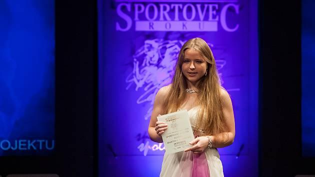 Slavnostní vyhlášení ankety Nejúspěšnější sportovec Jablonecka za rok 2017 proběhlo 29. ledna v Městském divadle v Jablonci nad Nisou. Na snímku je Martina Ptáčková.