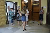 Slavnostní otevření opraveného výtahu v Jablonci nad Nisou.