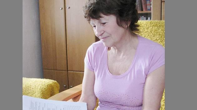 Kronikářka Dalešic Marie Nedomlelová