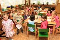 Děti z mateřské školy v Lučanech