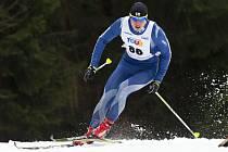 Břízky hostily skiatlon seriálu SKI magazín tour. Na snímku je vítěz závodu mužů Petr Knop z Jablonce.
