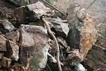 Sesuv kamenů. Ilustrační foto