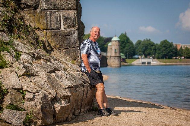 Jiří Chmelař, hrázný přehrady v Jablonci nad Nisou.