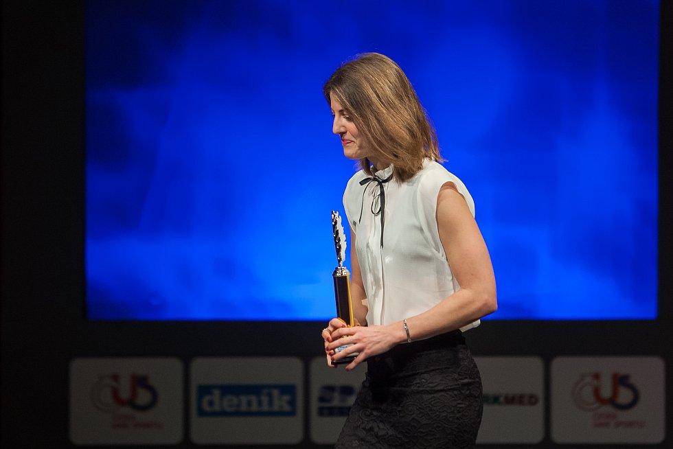 Slavnostní vyhlášení ankety Nejúspěšnější sportovec Jablonecka za rok 2017 proběhlo 29. ledna v Městském divadle v Jablonci nad Nisou. Na snímku je biatlonistka Jitka Landová.