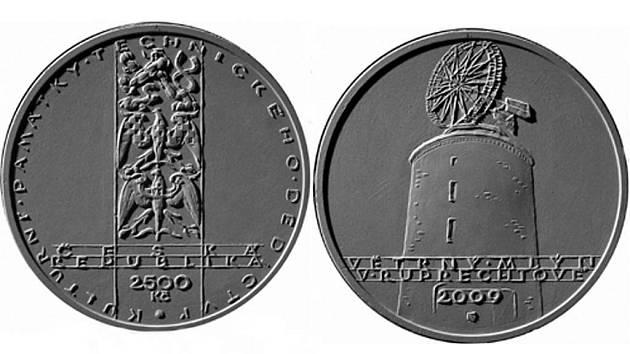 Autorem návrhu osmé zlaté mince z cyklu Kulturní památky technického dědictví, která znázorňuje větrný mlýn v Ruprechtově, je akademický sochař Jiří Harcuba.