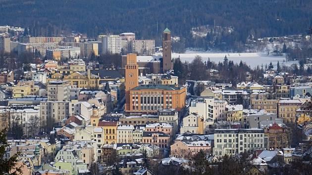 Pohled na město.