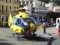 Vrtulník LZS Libereckého kraje.