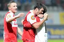 Fotbalisté FK BAUMIT Jablonec prohráli doma se Slavií 1:2.