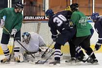 Z hokejového utkání Baumit - Slovan