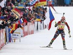 GABRIELA SOUKALOVÁ, rodačka z Jablonce nad Nisou, si v neděli dojela pro druhé zlato. Čtyřiadvacetiletá česká reprezentantka kraluje biatlonovému Ruhpoldingu!