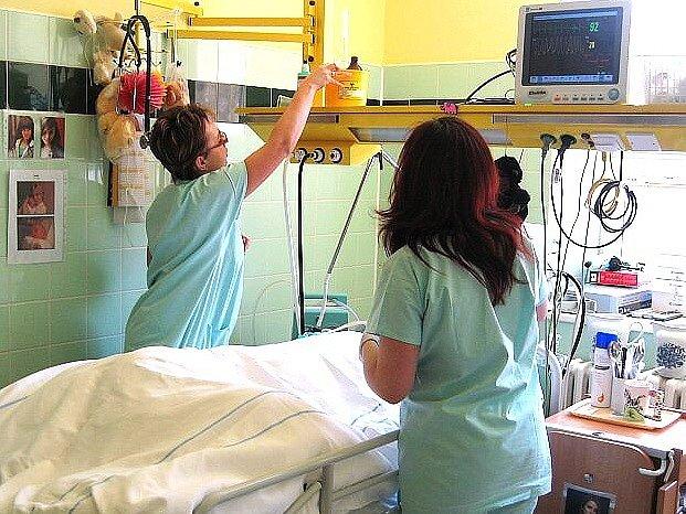 Oddělení chronické resuscitační intenzivní péče  v tanvaldské nemocnici.
