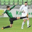 Utkání 14. kola HET ligy mezi MFK Karviná vs. FK Jablonec hrané 19. listopadu 2017 v Karviné. (vlevo) Masopust Lukáš a Pavel Eismann.