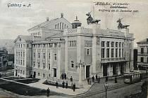 Městské divadlo v Jablonci nad Nisou v roce jeho otevření - 1907