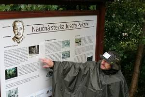 Odhalení stezky a pomníku historiku Josefu Pekařovi.