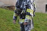 Požár roubenky v Bozkově