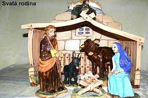 Svatá rodina ze Smržovského keramického betléma