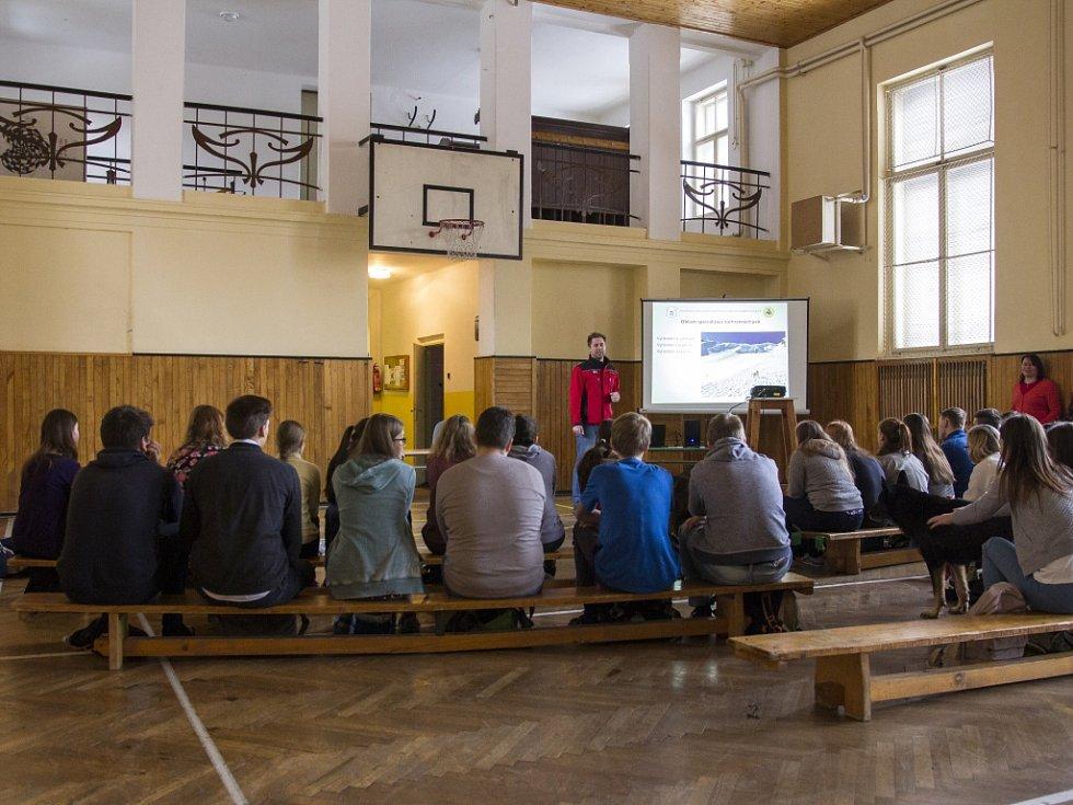 Projektový Den s osobnostmi na Gymnáziu U Balvanu.