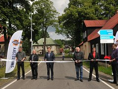 Slavnostní otevření zrekonstruované silnice