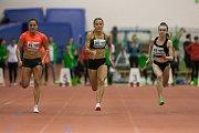 Atletický mítink Jablonecká hala 2018 proběhl 20. ledna v Jablonci nad Nisou. Na snímku zprava Jagoda Mierzynska, Barbora Procházková a Lucie Koudelová při disciplině 60 M ženy.
