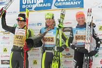 Domovským týmem mistryně Evropy Kláry Moravcové (uprostřed) je SKI klub Jablonec. V Bodenmais se jí dařilo.