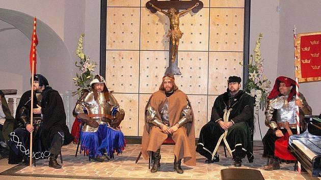 Kníže Václav s družinou.